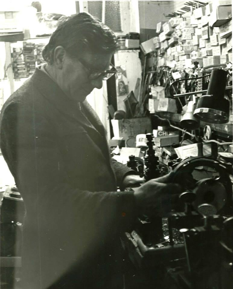 Ray Ward - the original founder  of Anglia Locksmiths (then Ray Ward & Sons)