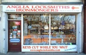 Anglia Locksmiths shop