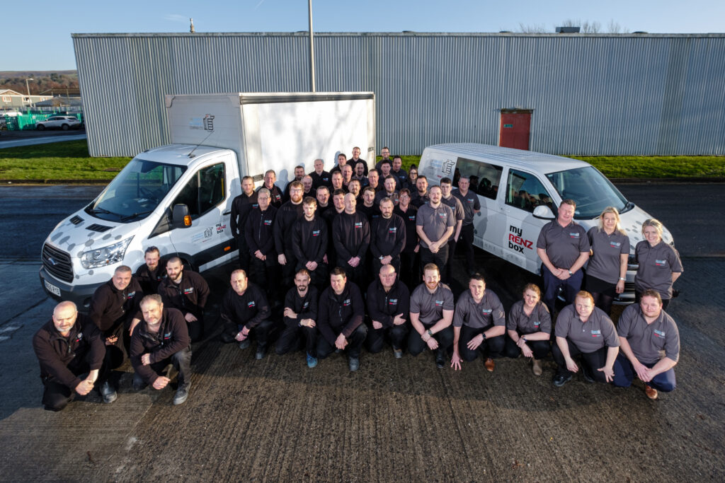SLB staff and vehicles